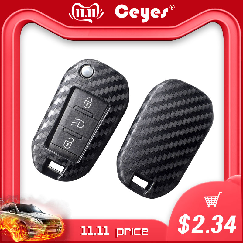 Ceyes Car Accessories Styling Protection Shell Cover Case For Citroen C2 C3 C4 C4L C5 C6 For Peugeot 208 207 308 RCZ 2 3 Buttons-in Car Stickers from Automobiles & Motorcycles