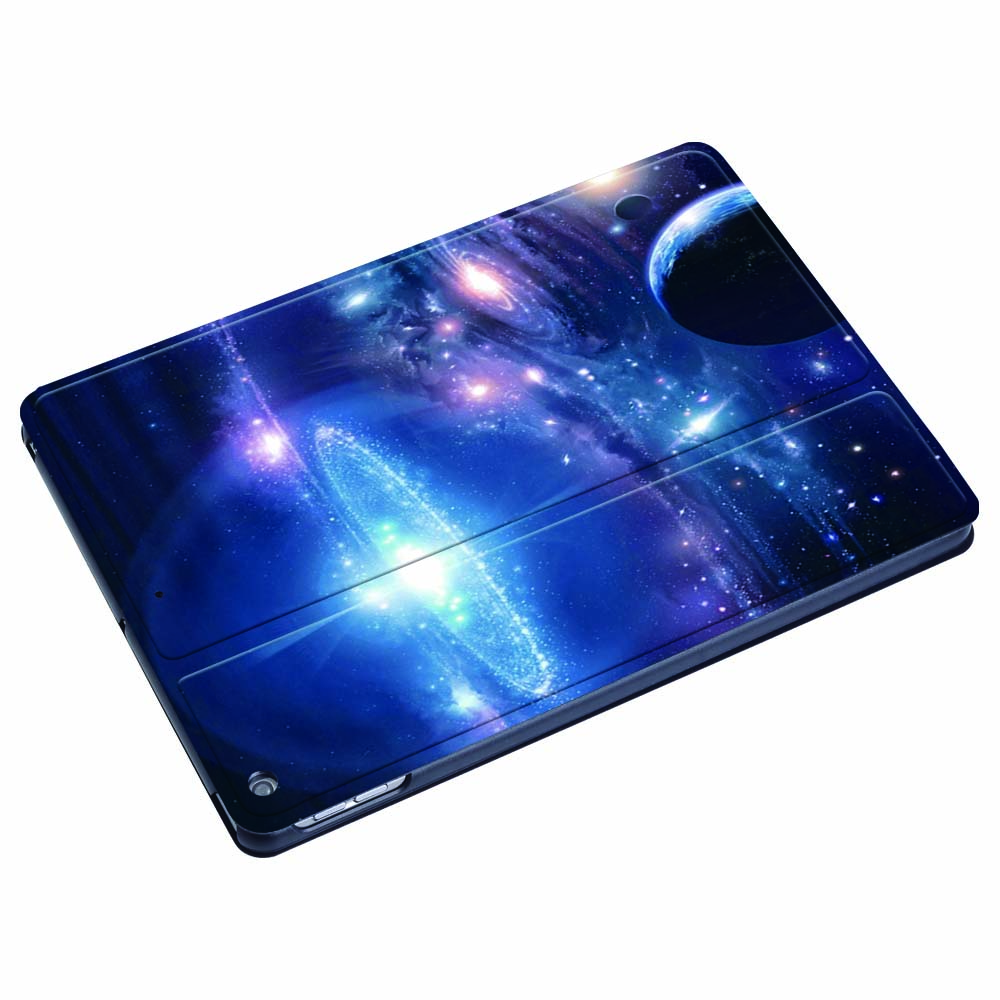 For iPad 2 3 4 5 6 7/Air 1 2 3/Pro 11 2018 2020 PU Leather Tablet Stand Folio Cover -Ultra-thin Star space colors Slim Case