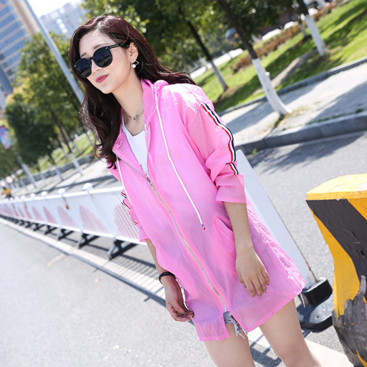 Sun Protection Clothing Women s Summer Mid length 2017 Korean Coat Large Size Beach Sun Protection Sun Protection Clothing Women's Summer Mid-length 2017 Korean Coat Large Size Beach Sun Protection Clothing Breathable Hooded Su