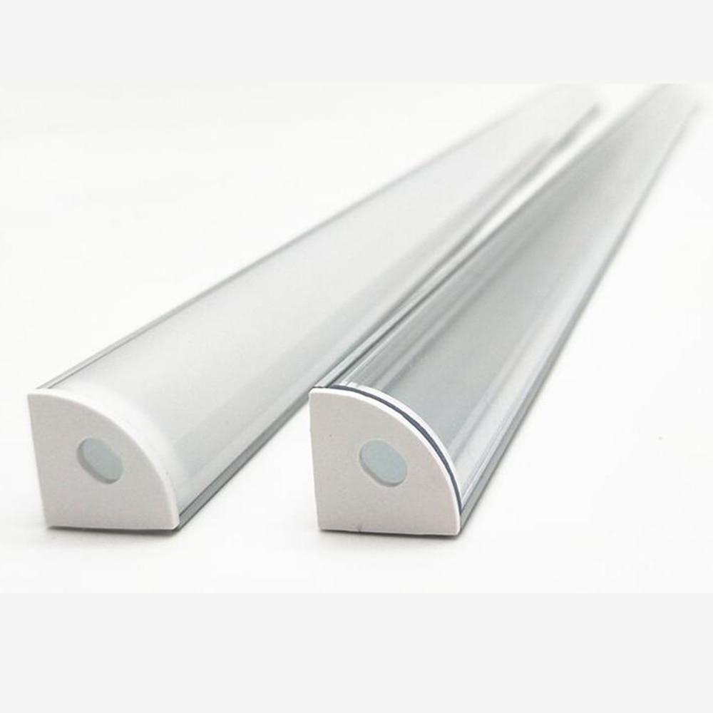 1-20pcs 50cm Led Bar Light Housing V Shape Aluminium Profile For Led Strips  Connector Clip Channel For 10mm PCB Strip