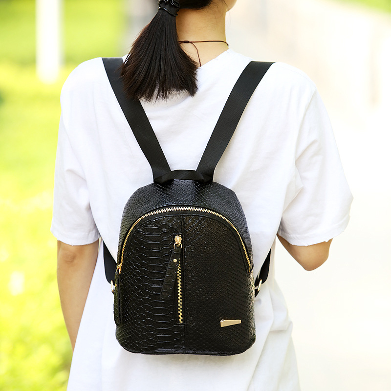 Miyahouse Fashion Women PU Leather Backpack Mini Solid Color Female Travel School Backpack Small Cute Rucksack For Teenege Girls