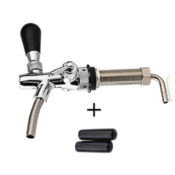 2019 Adjustable Beer Tap Faucet Flow Control Faucet with 4inch Shank Tap Kit Chrome Plating Homebrew Kegerator Draft Beer