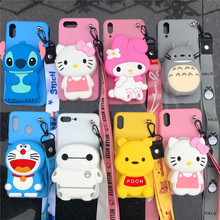 ORYKSZ 3D Cartoon Melody Bear Wallet Phone Case For