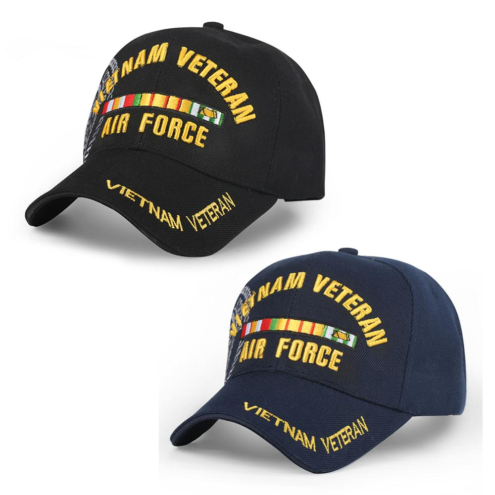 Embroidered Letters Cap VIETNAM VETERAN Baseball Caps Men Air Force Tactical Baseball Hat Outdoor Army Caps Dad Hat New Arrival