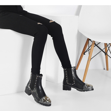 boots ankle Women's women's boots women's chaussures femme round women's shoes i