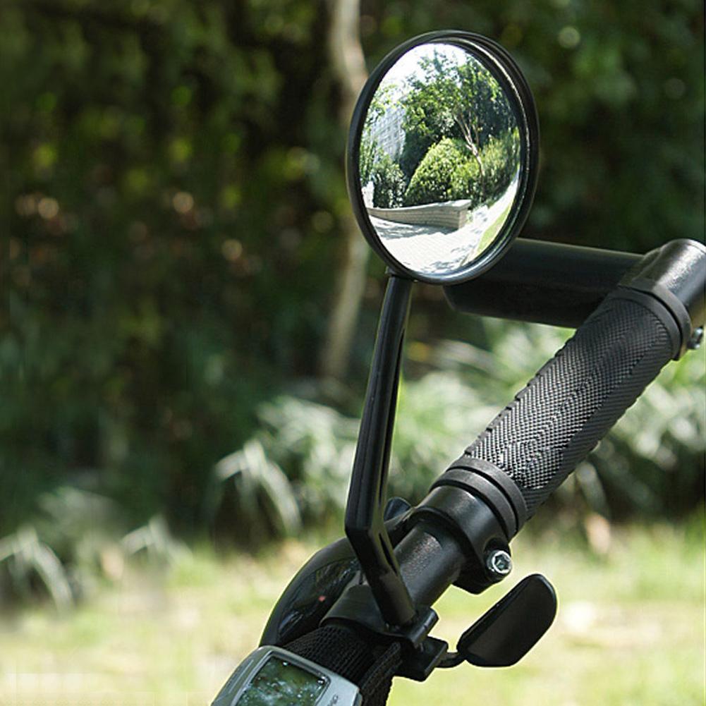 2 Pc Mini Rotaty Handlebar Glass Rear view Mirror for Road Bike Bicycle