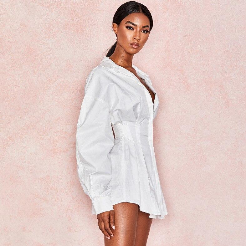 2020 весеннее офисное женское платье с глубоким вырезом и длинным рукавом, Сексуальное мини пляжное платье, элегантные сексуальные вечерние ...