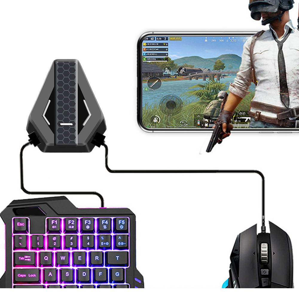 Gaming <font><b>Keyboard</b></font> Mouse <font><b>Converter</b></font> PUBG Mobile Gamepad Controller <font><b>USB</b></font> Adapter For Nintend Switch/PS4/PS4XBox One/Xbox 360 image