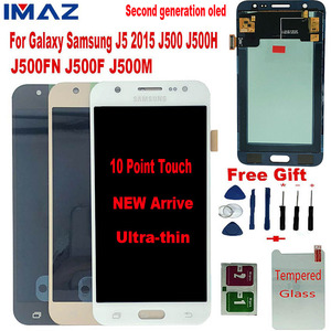 IMAZ Second OLED LCD For Samsung Galaxy J5 2015 LCD J500 J500F J500G J500M J500H/FN LCD Display Touch Screen Digitizer Assembly