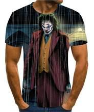 2020 Hot -Sale Clown 3d Printed T Shirt Men Joker Face Male Tshirt 3d Clown Short Sleeve Funny T Shirts Tops &Tees Xxs -6xl