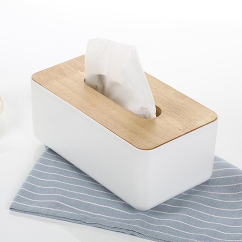 1PC Elegant Design Wooden Tissue Box Holder Cover Dispenser For Household Livingroom Kitchen Toilet Bathroom Paper Organizer|Tissue Boxes|   - AliExpress