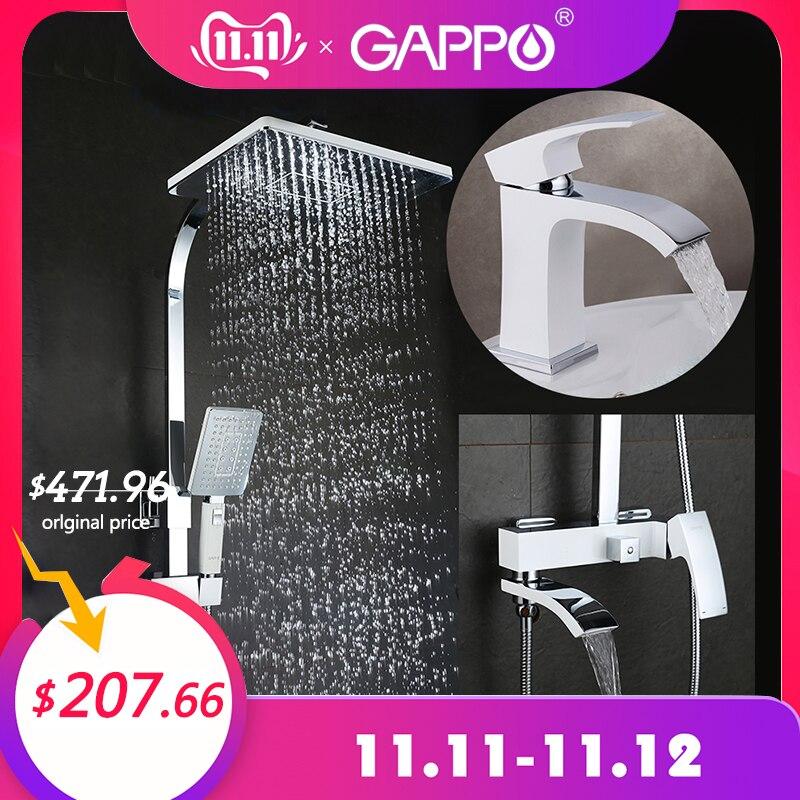 GAPPO Bathtub Faucets Shower Faucets Bathroom Mixer Shower Bathtub Rainfall Shower Set Basin Faucet Set Shower System Y03
