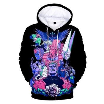 JoJo's Bizarre Adventure Hoodie Sweatshirt Harajuku Fashion Popular 3D Hoodies Men Women Basics Autumn Loose Hoodies JOJO Hoody
