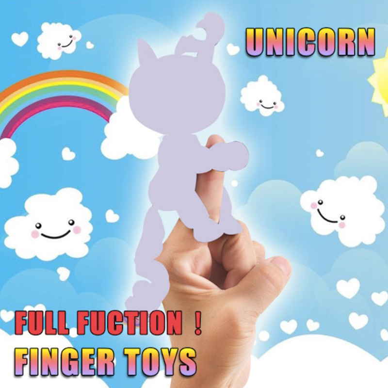 Finger Unicorn Sloths Monkey Pack Figure Baby Rose Interactive Kid Intelligent Toy Tip Smart Electronic Digital Pet Children Kid