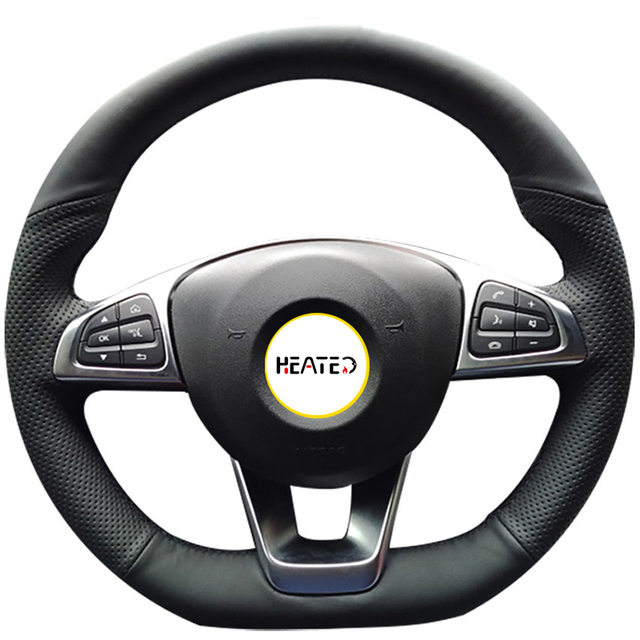 Leather Steering Wheel Cover for Benz C200 C250 C300 B250 B260 A200 A250 #BA19