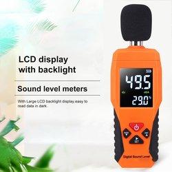 Cyfrowy poziom dźwięku dB metrów 30dB ~ 130dB Decibe rejestrator szumów detektor narzędzie diagnostyczne urządzenie do pomiaru temperatury z podświetleniem w Mierniki poziomu dźwięku od Narzędzia na