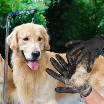 1 pair pet grooming gardening gloves for dog cat washing hair brush remover massage shedding mitten fur bathing shedding
