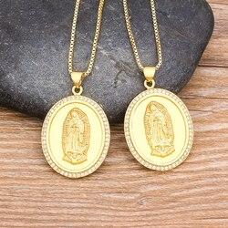 Najwyższej jakości 10 stylów złota maryja dziewica naszyjnik dla kobiet mężczyzn kościół Christian modlitwa jezus religia naszyjnik biżuteria
