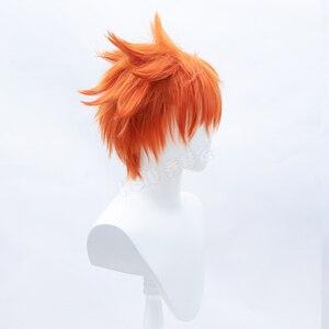 Image 5 - HSIU Аниме Haikyuu! Shoyo Хината косплей парик короткий костюм апельсина играть парики Хэллоуин костюмы волос