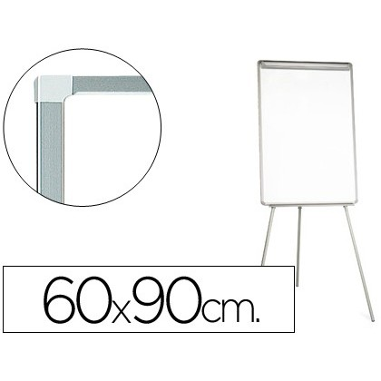 SLATE WHITE Q-CONNECT WITH TRIPODE 90X60X195CM FOR CONVENTION LAMINATED SURFACE DIRECT WRITING