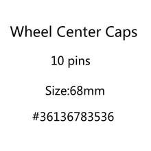 20 Stks/partij 68Mm 10 Pins Auto Wiel Center Hub Caps Velg Caps Covers Embleem Badge Voor 1 3 5 7 X3 X5 M3 M5 36136783536