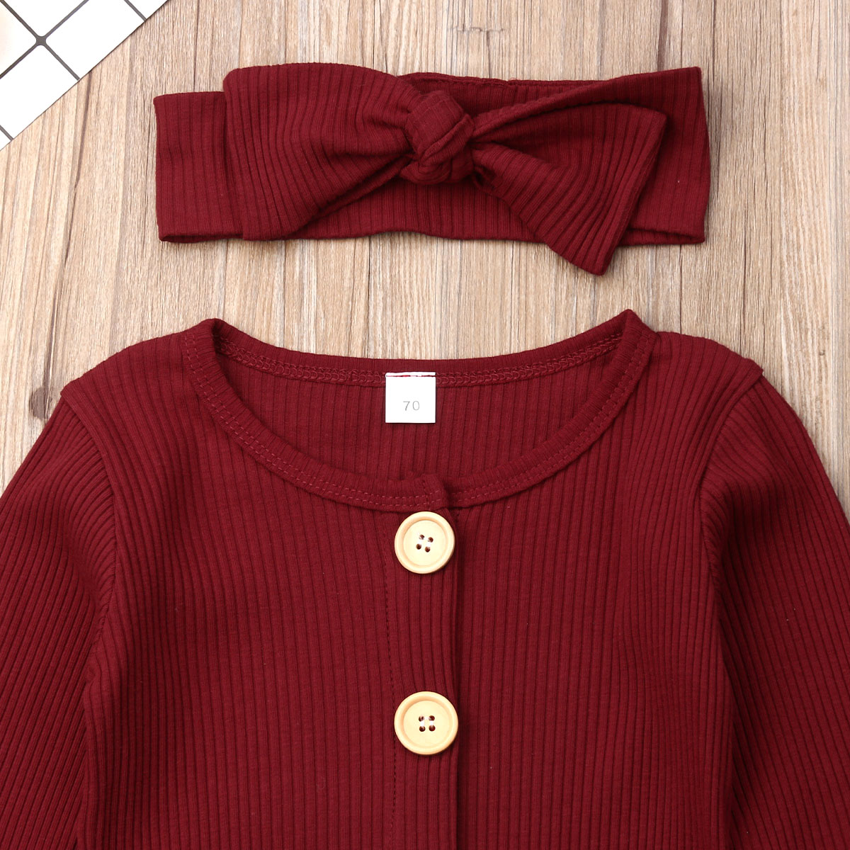 H2c3fdc044f514e75aee11df4f629b67eM Spring Fall Newborn Baby Girl Boy Clothes Long Sleeve Knitted Romper + Headband Jumpsuit 2PCS Outfit 0-24M