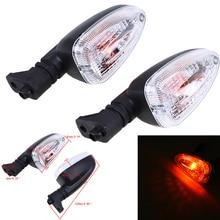 цена на 2 Pcs Motorcycle Universal Turn Signal Light Blinker Indicator LED Flasher Lights Amber Lamp For BMW F650GS R1200GS K1300R F800R
