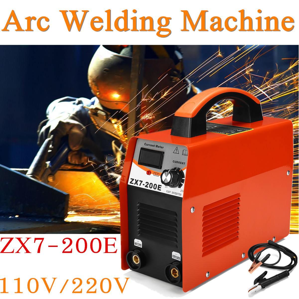 FORGELO ZX7-200E Schweißer Inverter AC 110 V/220 V IGBT MMA Schweißen Led-anzeige Arc Schweißer 20-140A für Hause anfänger Big Verkauf