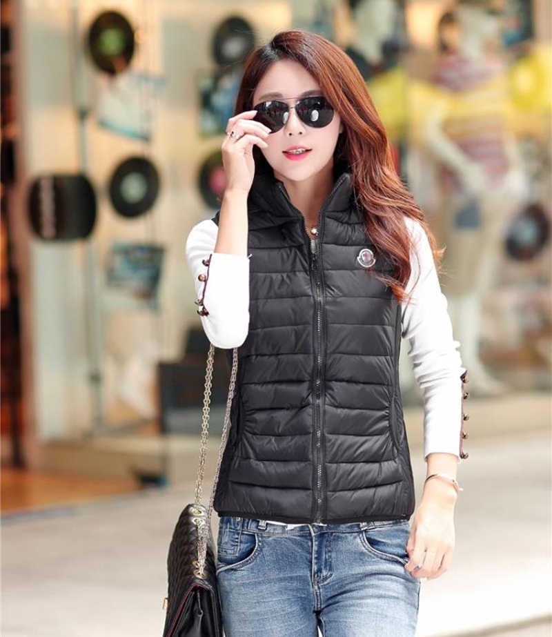 Cotton vest women coat female short cotton vest autumn and winter models thin plus size 3XL