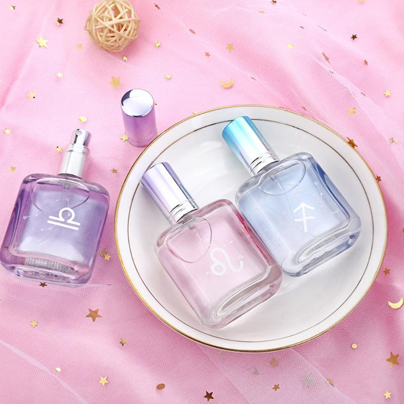 12 Constellations Girls Glitter Elegant Lasting Floral Fruit Scent Fresh  Romantic Perfume Body Spray Attract Girl Scented Water