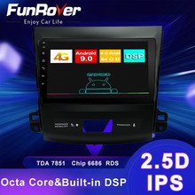 Funrover Android 9.0 4G+64G 4G Car Radio Multimedia Player Navigation GPS For Mitsubishi Outlander xl 2 2005-2011 2din FM no DVD(China)