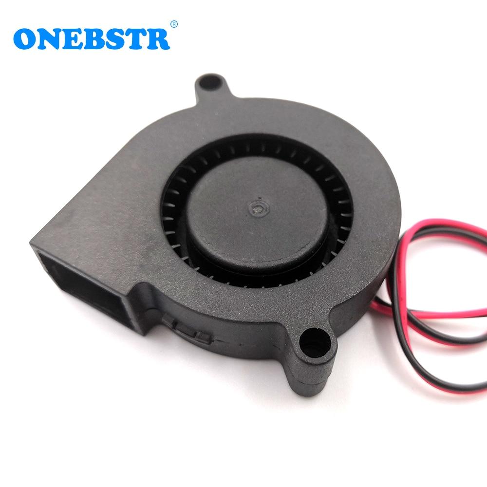 5015 Cooling Turbo Fan 5V 12V 24V Brushless 3D Printer Parts 2Pin For Extruder DC Cooler Blower Part Black Plastic Free Shipping