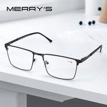 Merrys design anti azul luz bloqueando homem óculos de leitura CR-39 resina asférica lentes + 1.00 1.50 2.00 2.50 s2057flh
