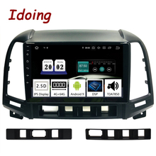 Idoing 9″2.5D IPS Car Android9.0 Radio Multimedia Player For Hyundai Santa Fe 2 2006-2012 GPS Navigation PX5 4G+64G Octa Core