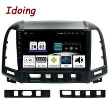 """Idoing 9 """"2.5D IPS coche Android9.Zero Radio reproductor Multimedia para Hyundai Santa Fe 2 2006-2012 navegación GPS PX5 4G + 64G Octa Core"""