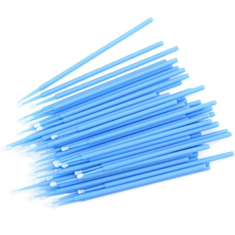 100pcs/pack Durable Micro Disposable Eyelash Extension Makeup Brushes Individual Applicators Mascara Removing Tools Cotton Swabs