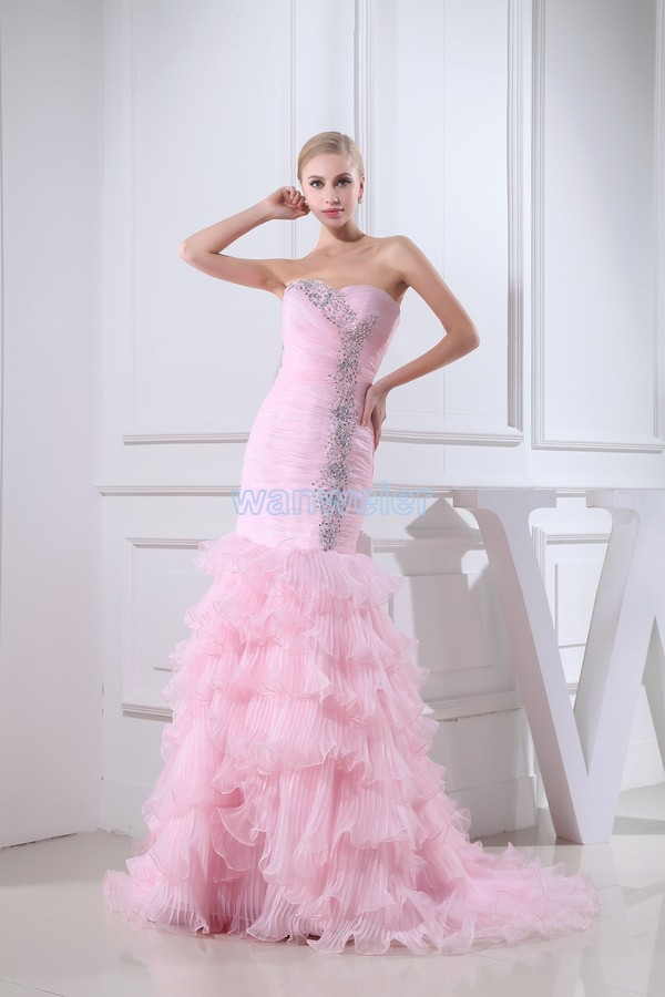 Free Shipping 2018 New Design Crystal Style Handmade Custom Size/color Warli Bridal Gown Mermaid Pink Mother Of The Bride Dress