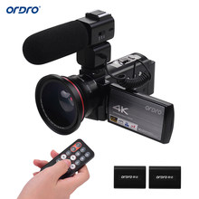 "ORDRO HDV-AE8 4K WiFi Digital Video Kamera Camcorder DV Recorder 24MP IR Nacht Vision 3 ""IPS LCD Externe mic für Familie Reise(China)"