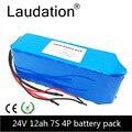 Laudation 24V электрический велосипед литий-ионный аккумулятор 12.8ah 29 4 V 12800mAh 15A BMS 250W 350W 18650 Аккумулятор для инвалидной коляски мотор