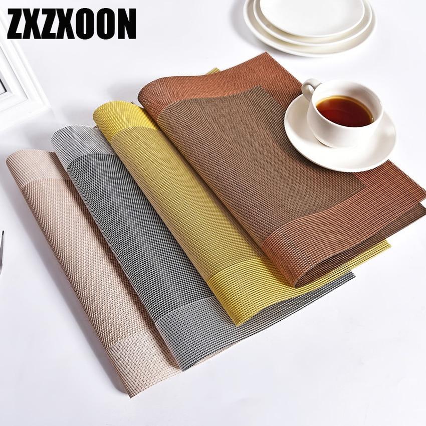 Европейские изоляционные прокладки ПВХ 30x45 см, коврики для стола, подставки для напитков, чашки для подстаканника, салфетки для кухонного стола, кухонные аксессуары|Коврики и подложки| | АлиЭкспресс