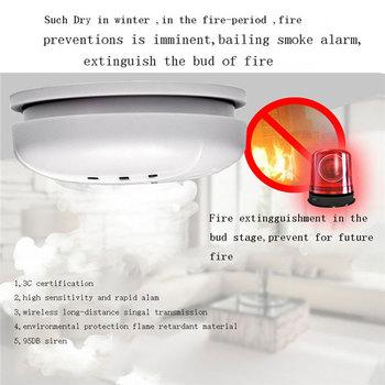 CO tlenek węgla zatrucie dymu gazu wykrywacz nieszczelności czujnik alarmu inteligentny dom kuchnia bezpieczeństwo ochrona przeciwpożarowa dźwięk Flash Alarm tanie i dobre opinie White Wire Smoke detector BL-168 Light labyrinth DC9V 12VDC 433MHZ 20 square meter More than 85dB m` CE FCC Battery powered