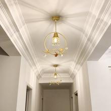 Modern creative personality  pendant lamps balcony aisle corridor entrance cloakroom high quality crystal restaurant lights