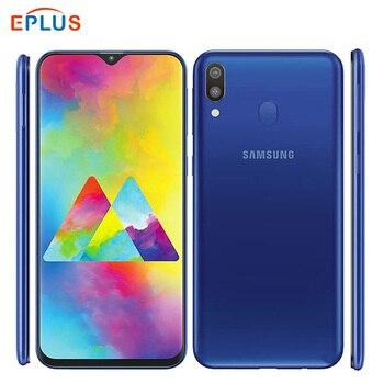 Перейти на Алиэкспресс и купить Новая глобальная версия 6,3 inch samsung Galaxy M20 M205F/DS 64 Гб мобильный телефон 5000 мАч 3 ГБ/4 Гб оперативной памяти, 32 Гб встроенной памяти/64 GB с двумя sim-ка...