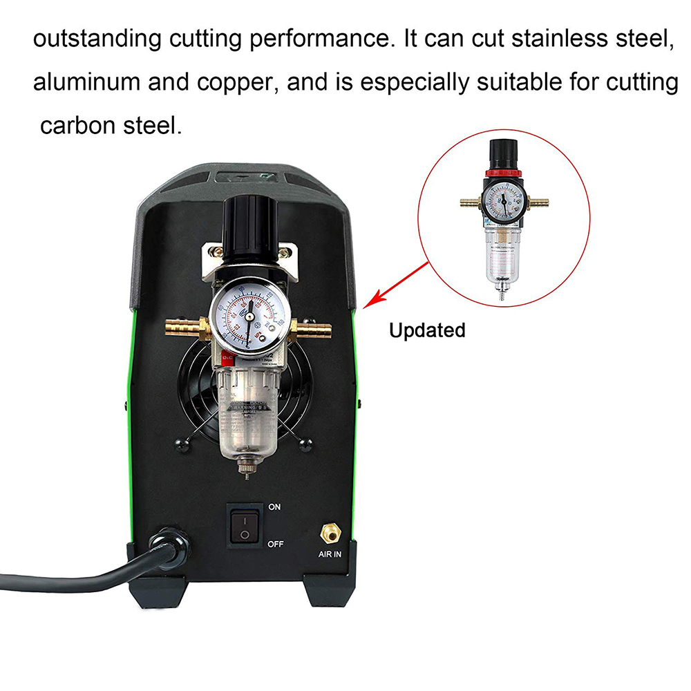 Tools : Plasma Cutter CUT 50Amp Pilot Arc Non Touch 110 220V IGBT Air Plasma Cutting Machine Dual Volt HF Cutter Inverter 1 2inch Clean Cut