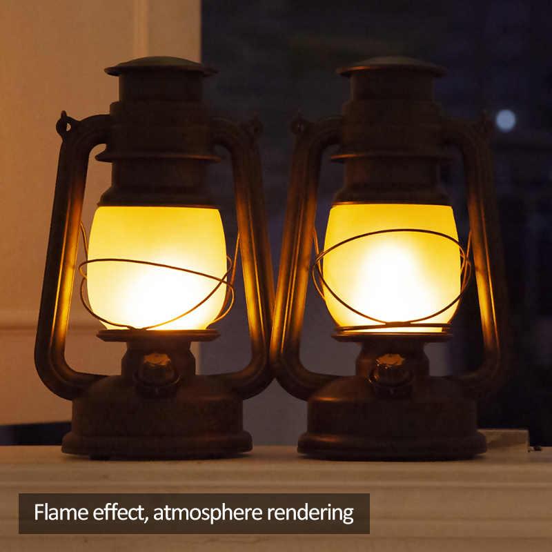 Controle remoto led lâmpada de mesa do vintage rc europeu retro criativo chama luz café ao ar livre iluminação decoração para casa lâmpada querosene