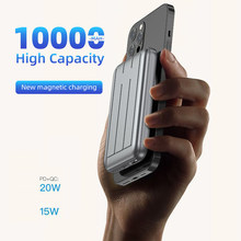 20W fast charging PD USB type C portable external rechargeable battery 15W wireless magnetic power bank for iPhone12ProMax 10000