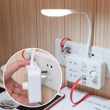 10sets/lot Smart Socket Charger Power Adapter Port Outlet Panel Anti Impact Dual USB with night light Adjustable reading light