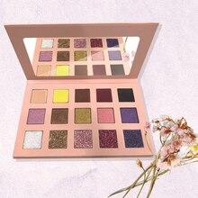 Glitter Apricot Pearl Sequins Matte Eyeshadow Power Palette Glitter Highlighter Shimmer Make up Pigment   Shine Private Label