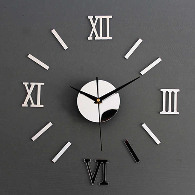 Nowy zegar zegarek zegary ścienne 3D DIY lustro akrylowe naklejki dekoracja wnętrz salon igła kwarcowa zegar ścienny