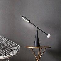 Постмодерн минималистичный скандинавский дизайнер железная настольная лампа креативный лофт американский стиль освещение офис дом спаль